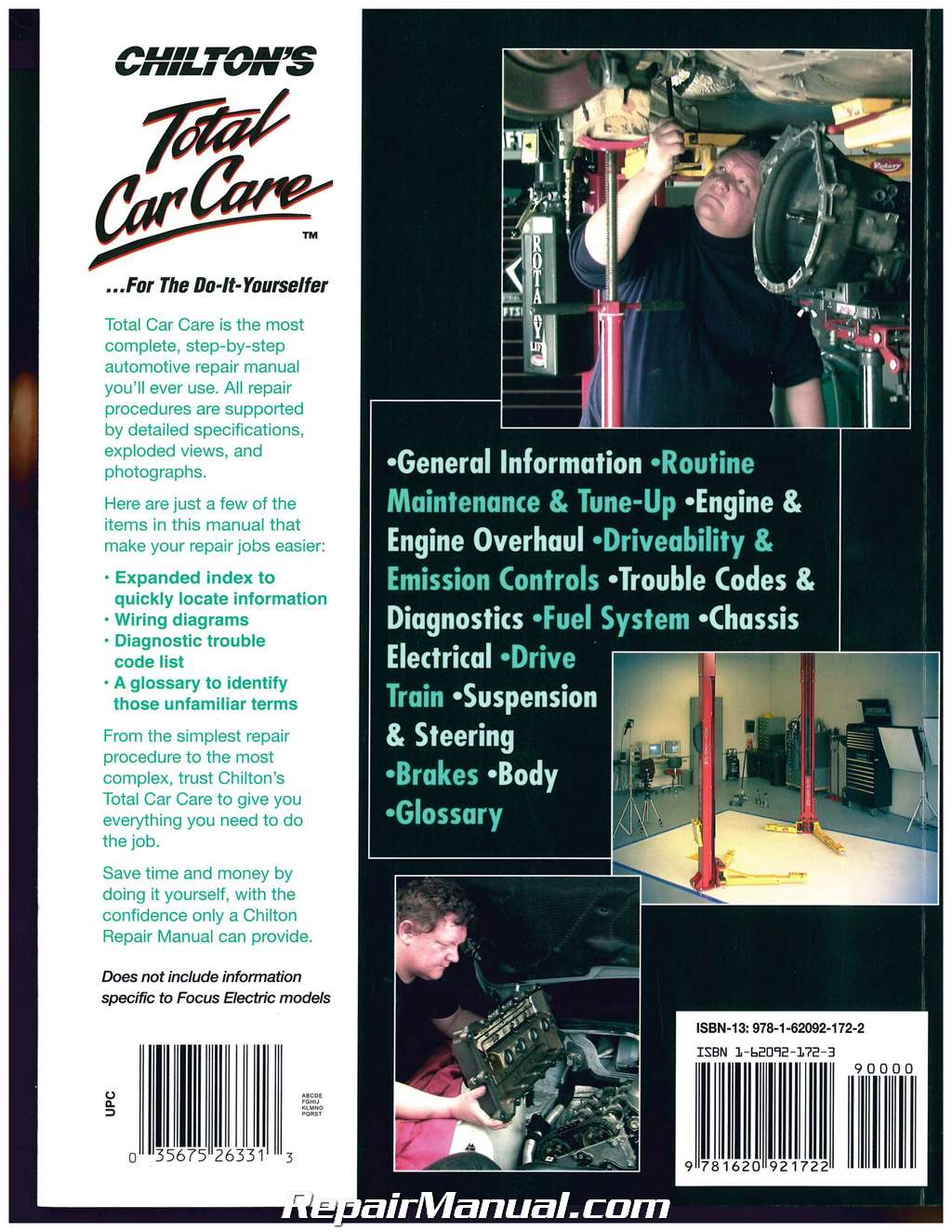 Ford Focus 2012 2013 2014 Chilton Automotive Repair Manual Codes