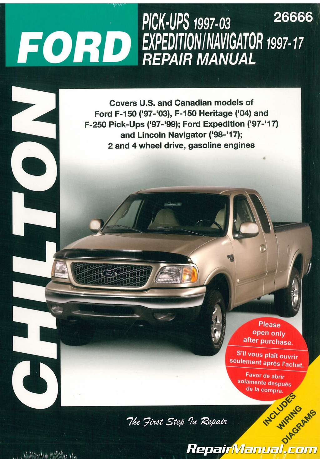 Chilton Ford Ford Pick-Ups 1997-2003 Ford Expedition and Lincoln Navigator  1997-2017 Repair Manual