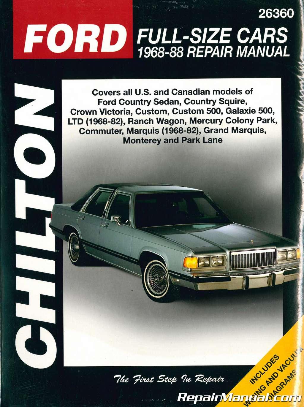 Chilton Ford Full Size Cars Repair Manual
