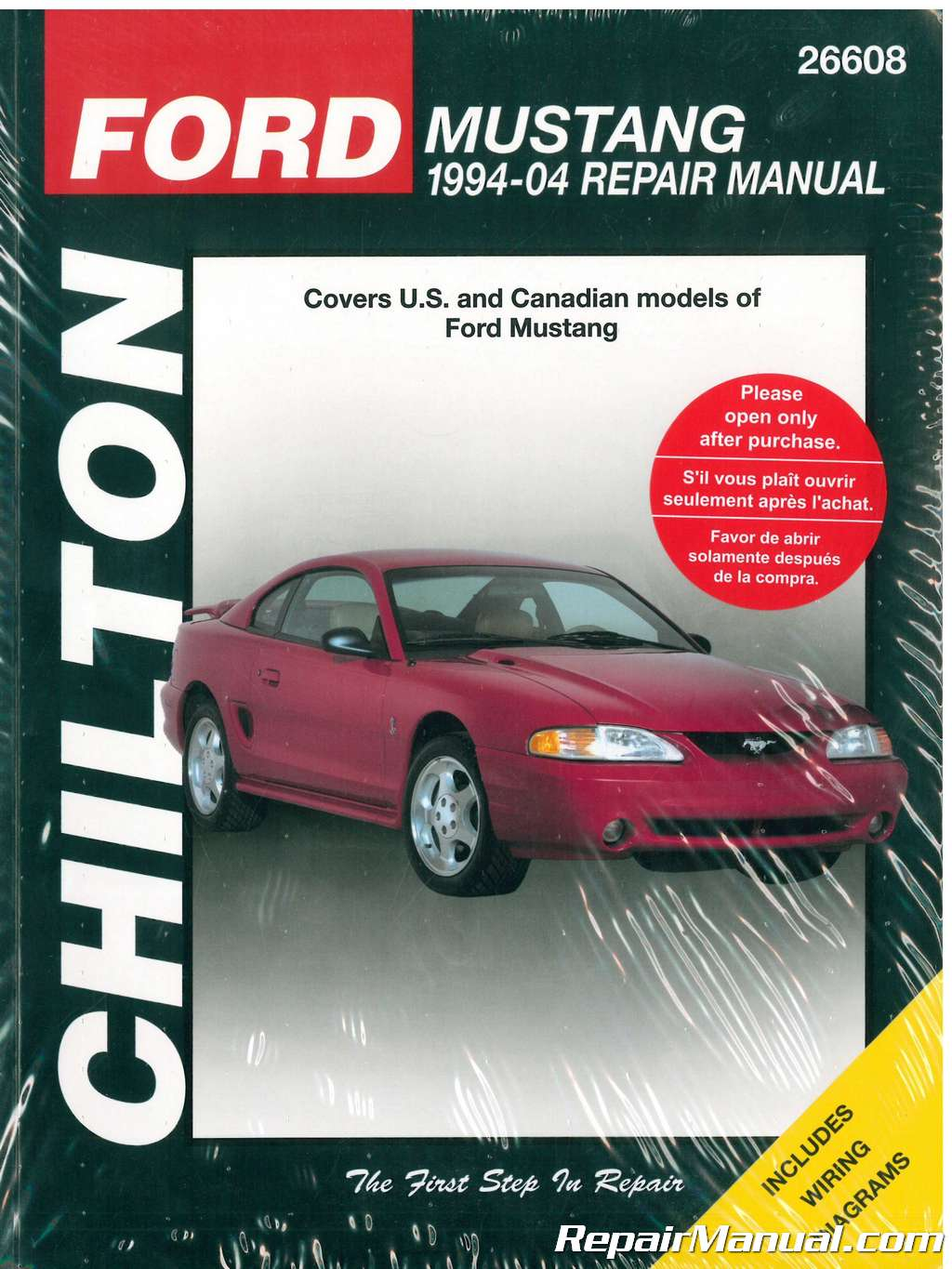 Chilton Ford Mustang Repair Manual on Canadian Tractor Equipment