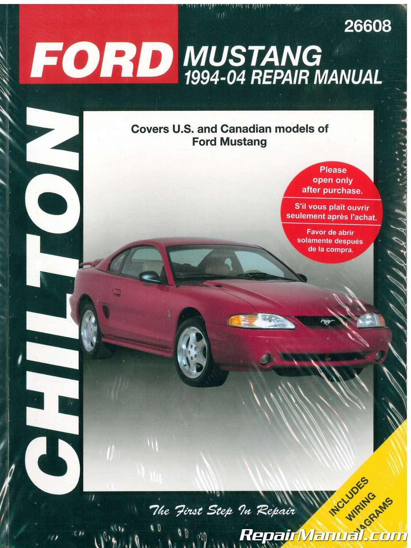 Chilton Ford Mustang 1994  U2013 2004 Car Repair Manual
