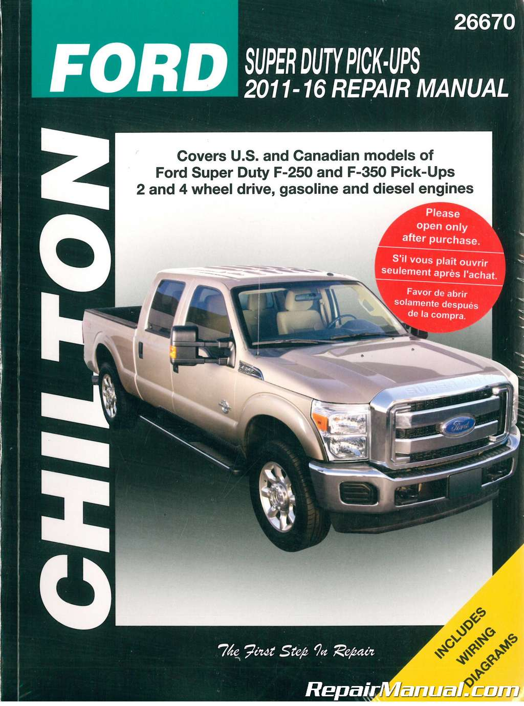 Chilton Wiring Diagrams 1979 Ford F 250 Voltage Regulator Diagram 1986 350 Super Duty Pick Ups 2011 2016 Repair Manual Rh Repairmanual Com Ignition Module