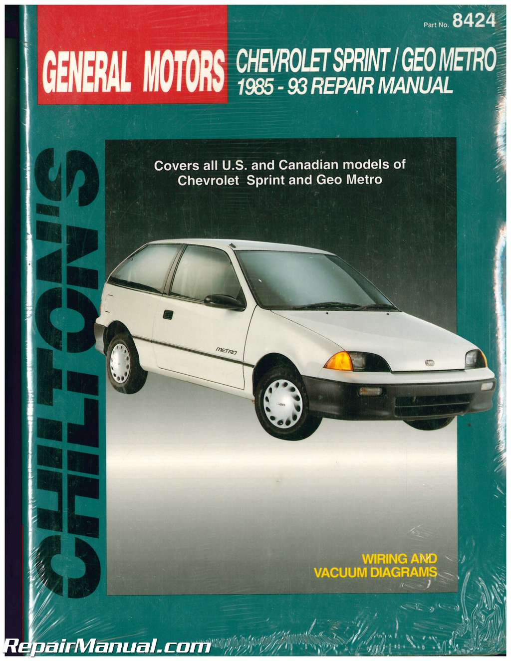 Chilton General Motors Geo Metro Chevrolet Sprint 1985