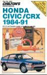 Chilton Honda Civic CRX 1984-1991 Repair Manual12