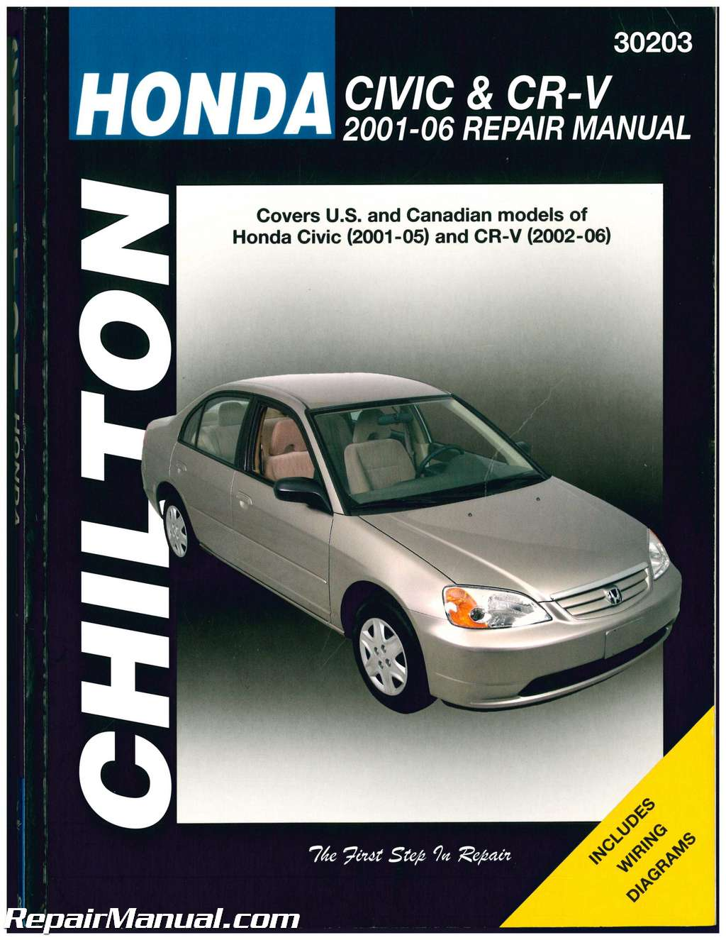 chilton honda civic and cr v repair manual rh repairmanual com 2005 Honda Civic Hybrid Interior 2005 Honda Civic Hybrid Interior