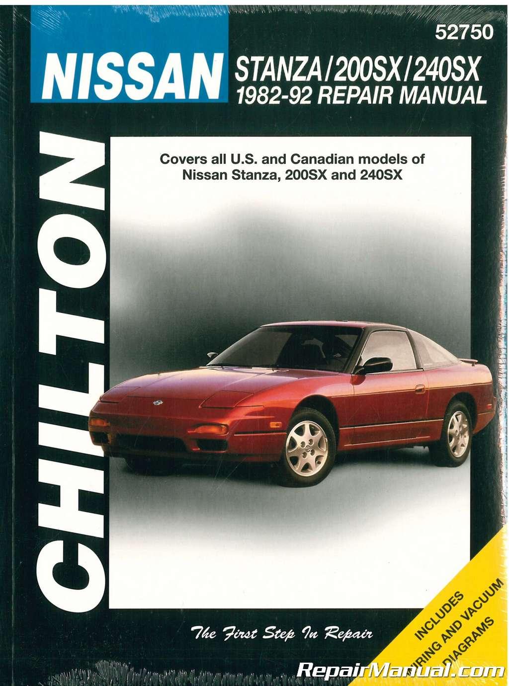 Chilton Nissan Stanza 200sx 240sx 1982 1992 Repair Manual