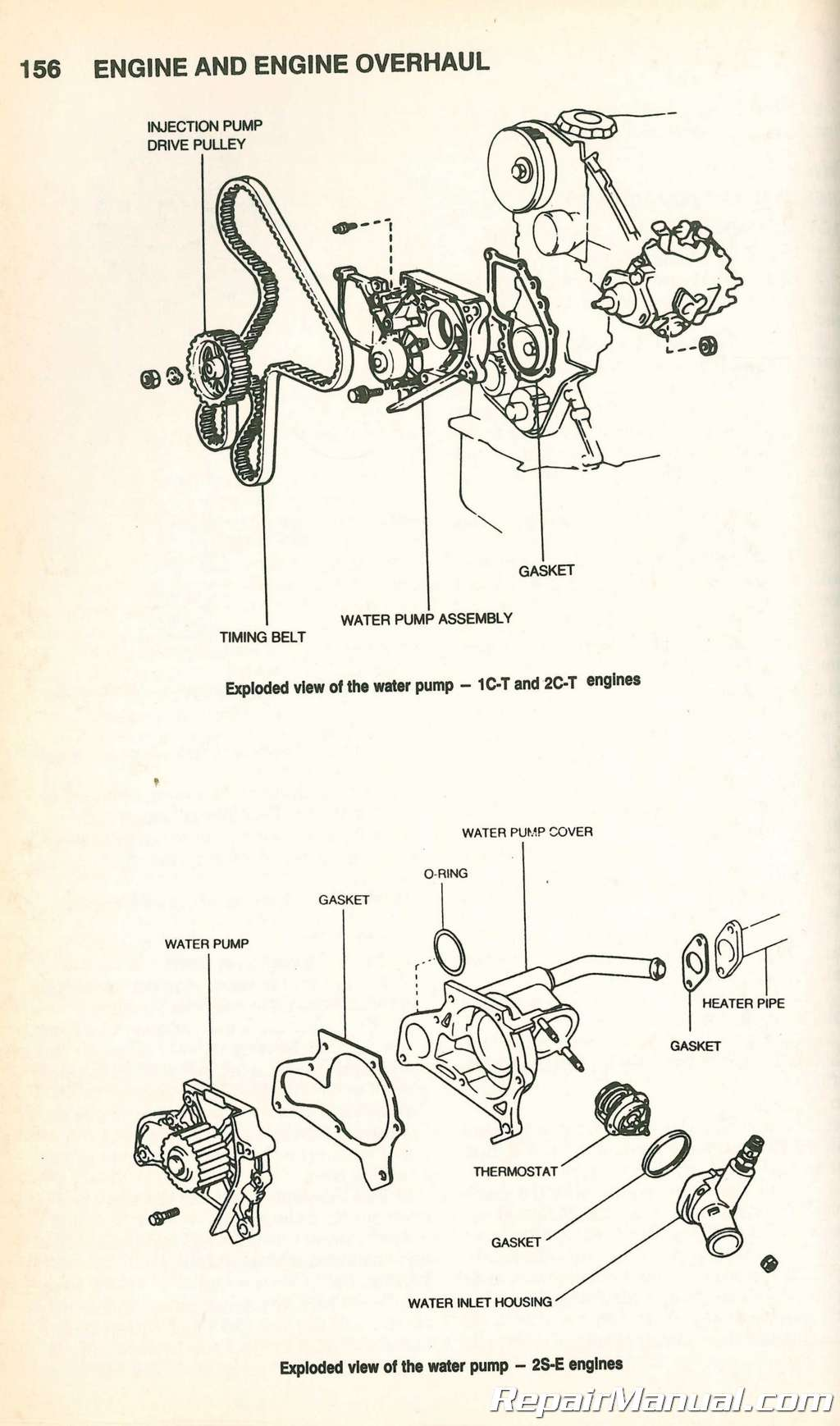 Toyota Camry Engine Diagram Water Pump