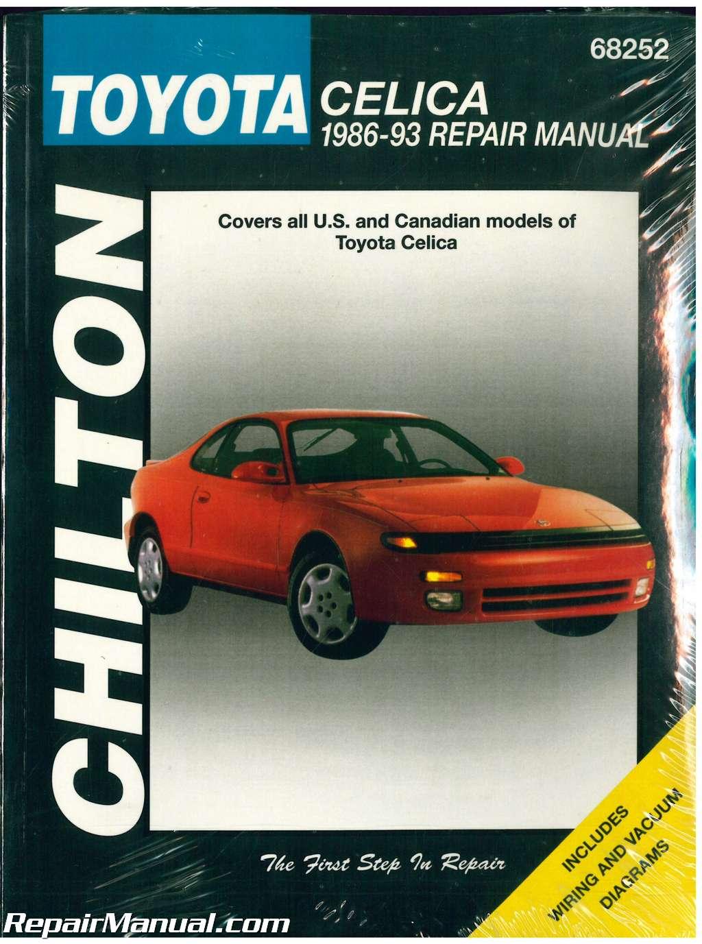 Chilton Toyota Celica 1986 1993 Repair Manual Engine Diagram