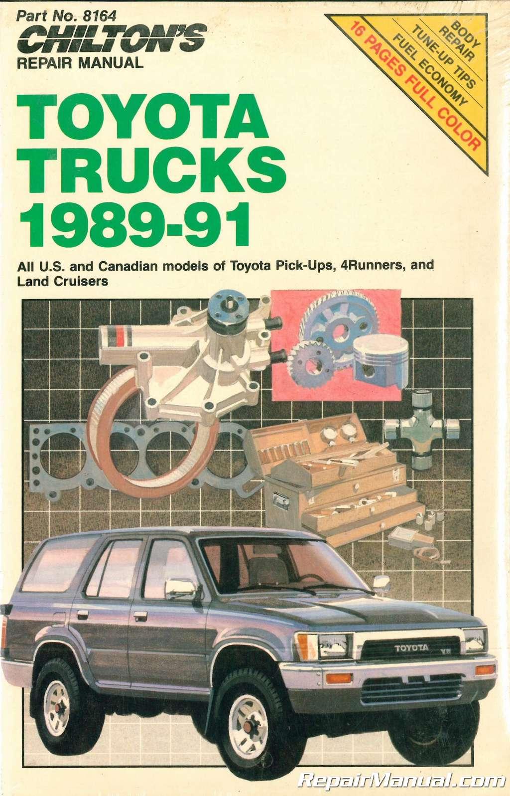 Chilton Toyota Trucks 1989 – 1991 Repair Manual