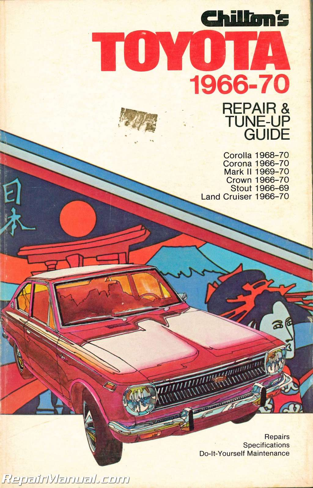 ... Array - used chilton toyota 1966 1970 repair and tune up guide rh  repairmanual ...