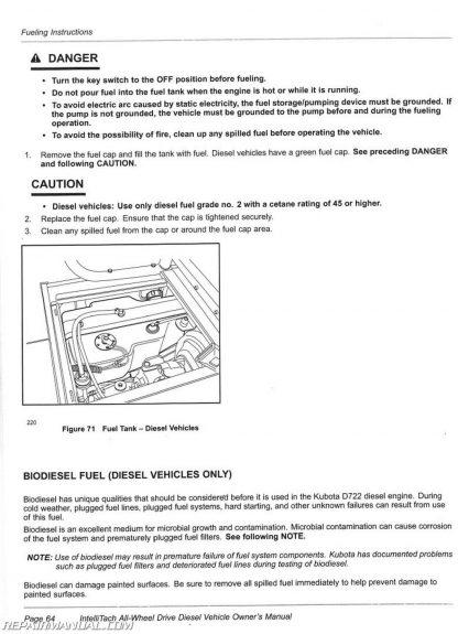Club Car Carryall 295 IntelliTach XRT 1550 IntelliTach Diesel Vehicle  Owners Manual