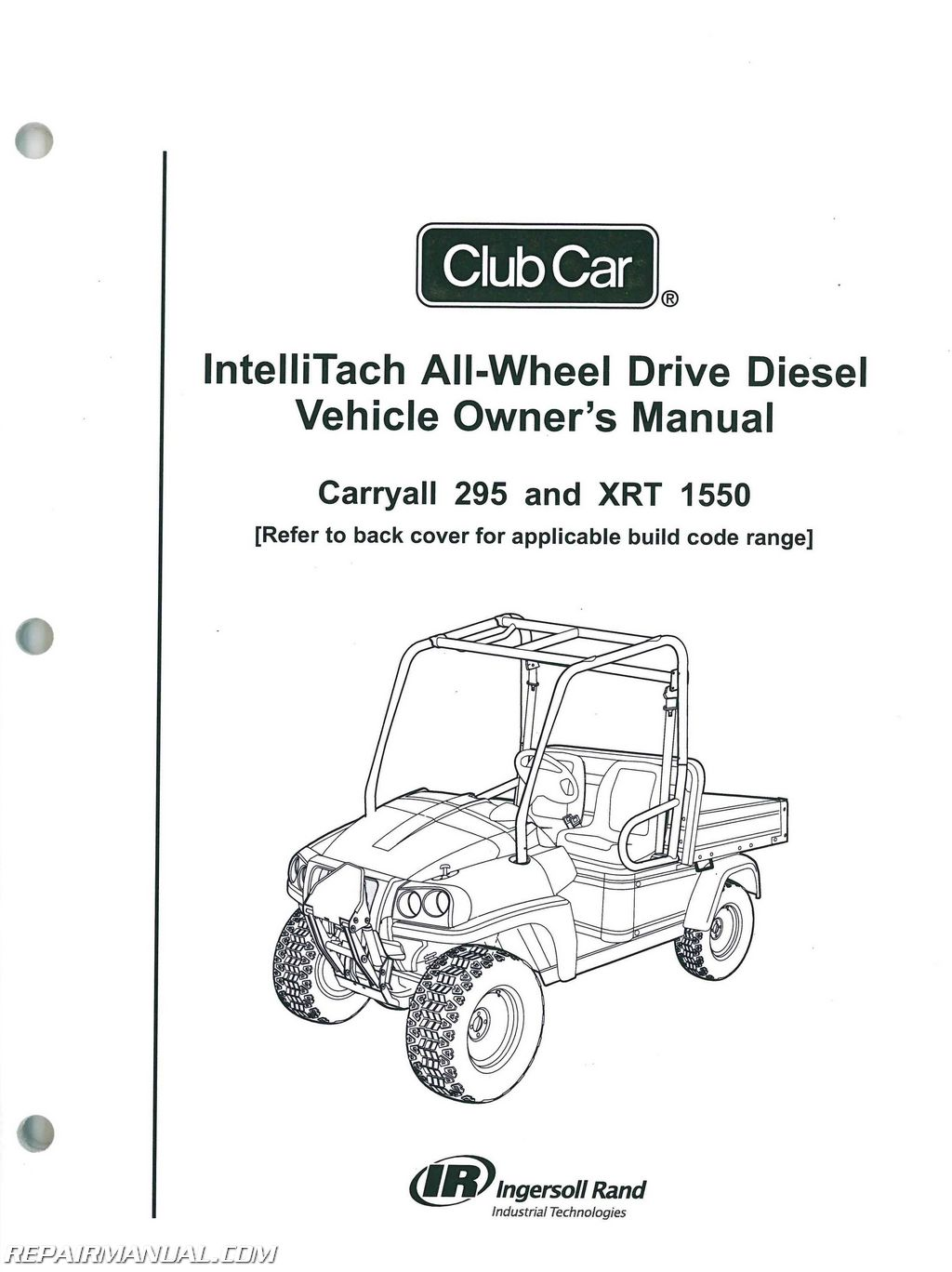 Club       Car    Carryall 295 IntelliTach XRT 1550 IntelliTach