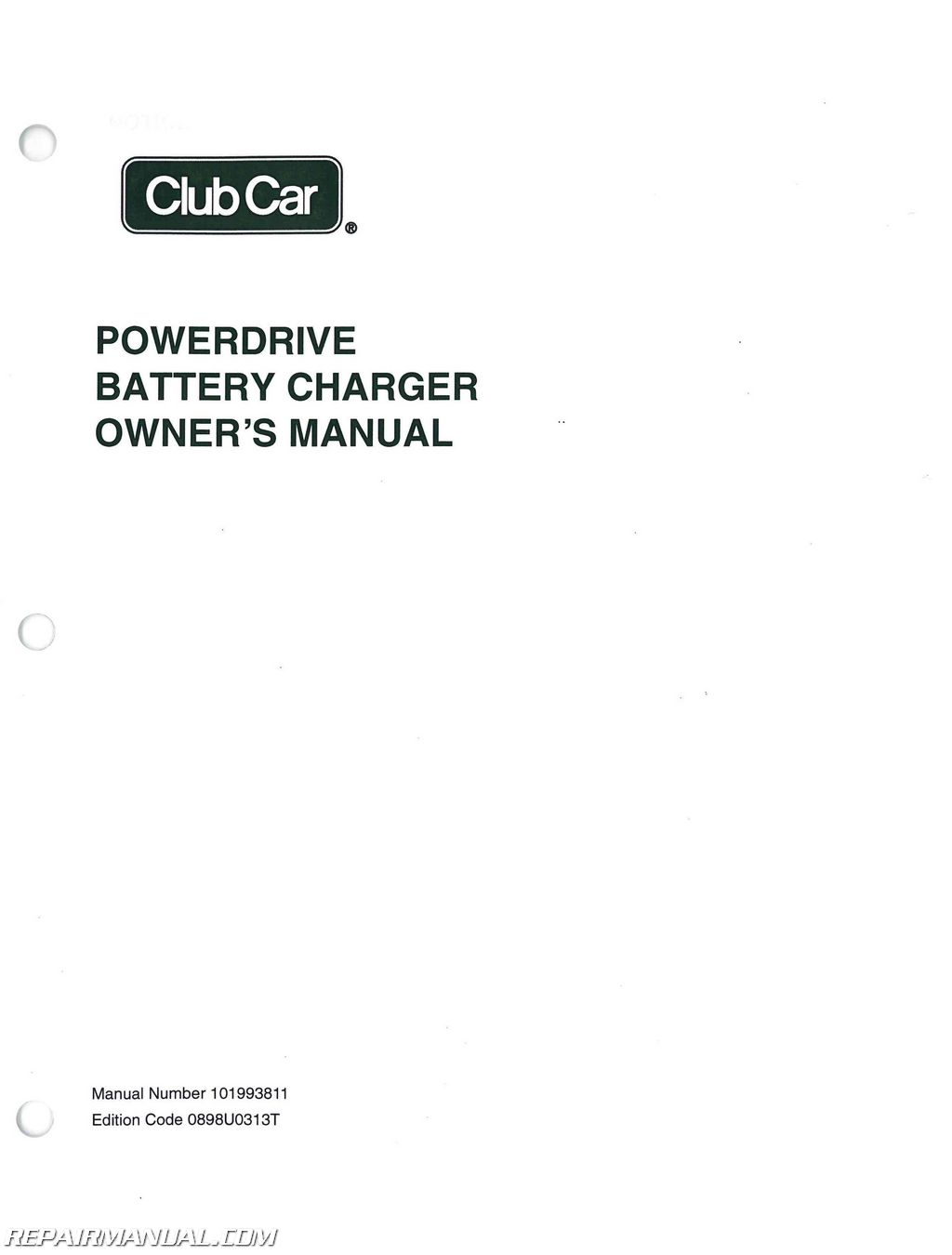 Powerdrive Battery Charger Wiring Diagram Golden Schematic Power Drive Club Car Domestic Export European Owners Manual