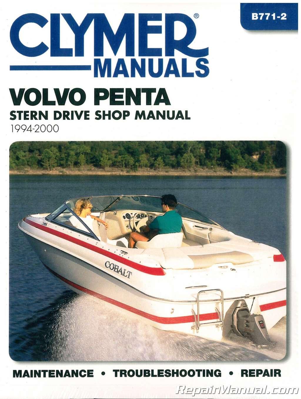 clymer 1994 2000 volvo penta stern drive boat engine repair manual rh repairmanual com volvo penta stern drive shop manual volvo penta stern drive shop manual