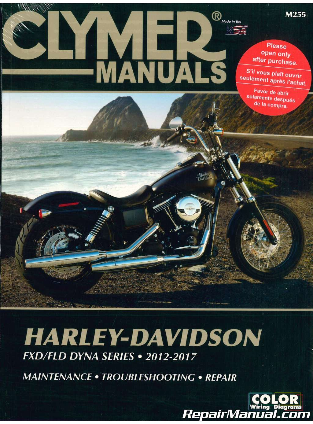 Clymer Harley Davidson FXD FLD Dyna Series 2012-2017 Motorcycle Repair  Manual