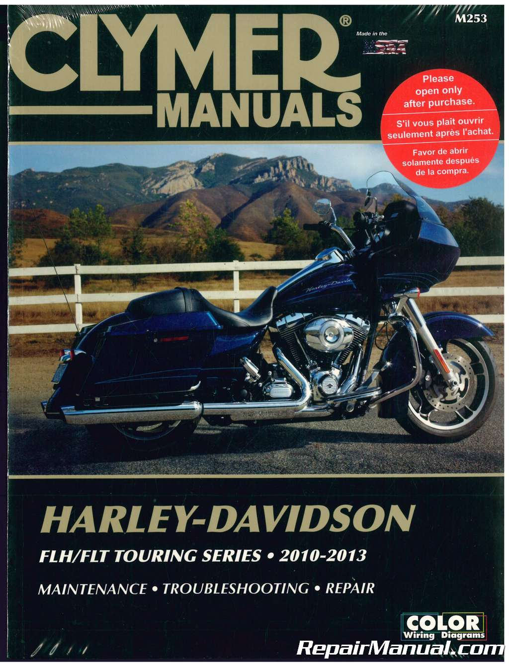 Clymer Harley-Davidson FLH/FLT Touring Series 2010-2013 Motorcycle Repair  Manual