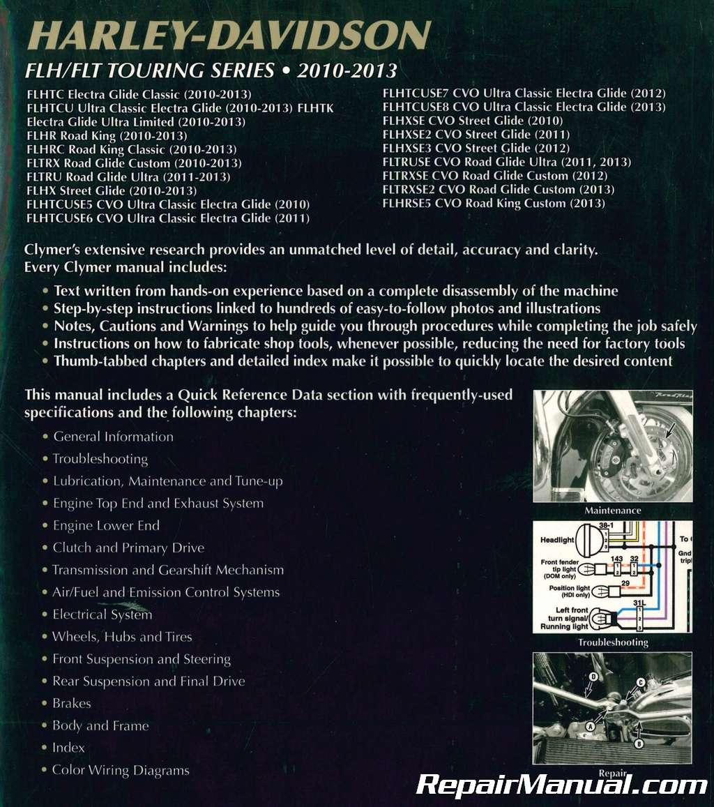Clymer Harley-Davidson FLH/FLT Touring Series 2010-2013 Motorcycle Repair  Manual