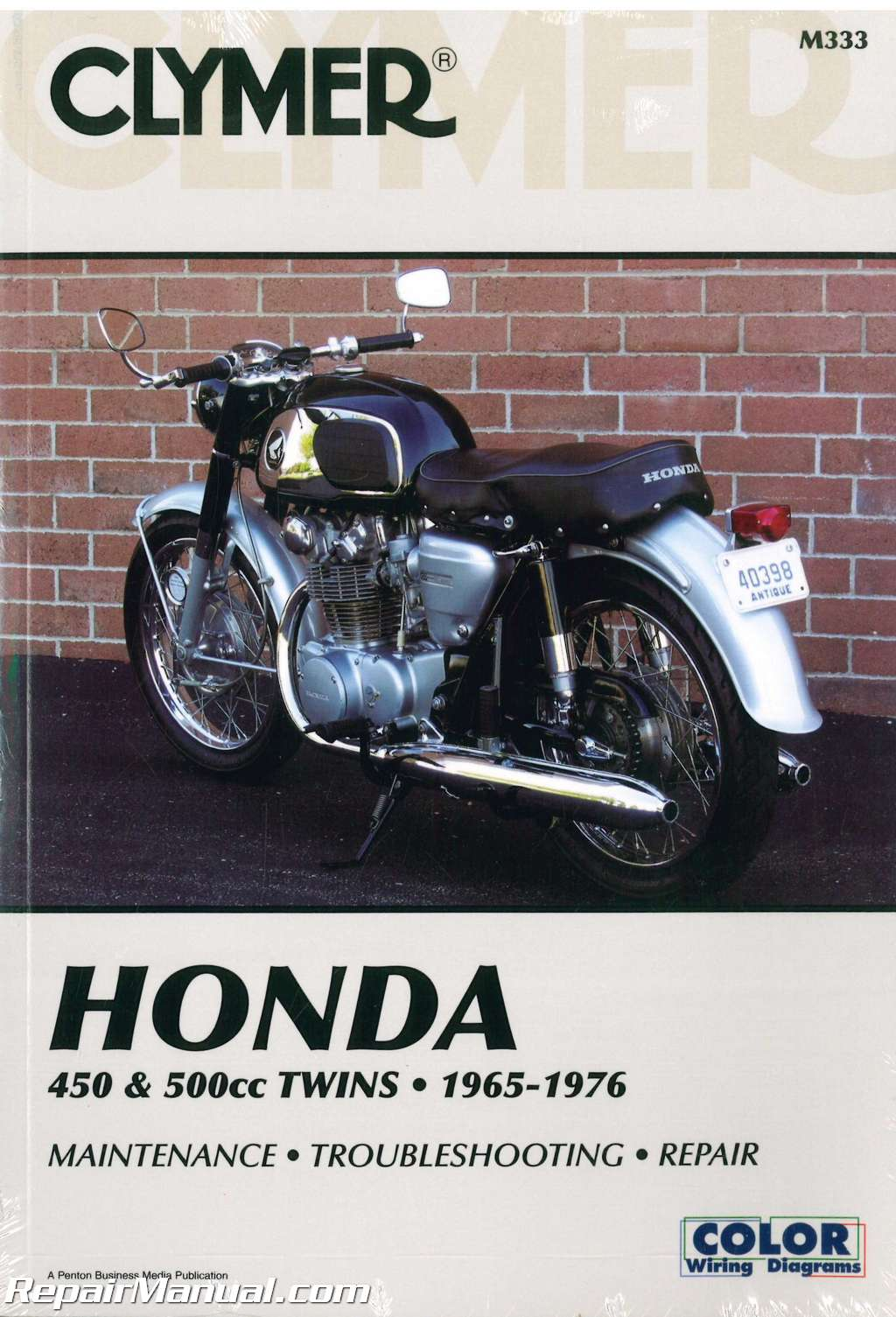 Clymer Honda 450 500cc Twins 1965 1976 Motorcycle Repair Manual