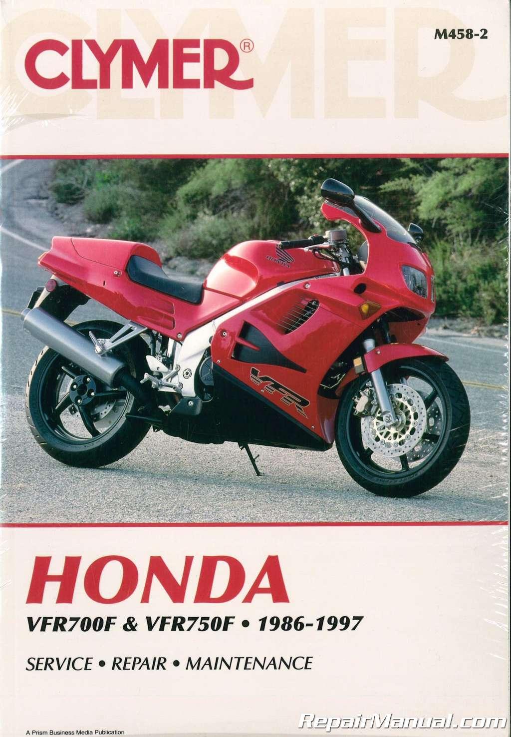 clymer honda vfr700f 750f 1986 1997 repair manual rh repairmanual com 1983 honda shadow vt500 manual honda shadow vt500 manual
