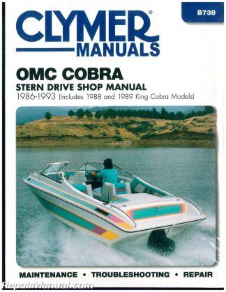 OMC Cobra Stern Drive Boat Engine Repair Manual 1986-1998 Seloc