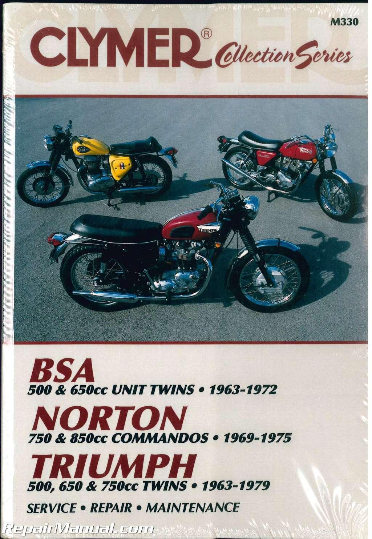 clymer vintage british motorcycle bsa norton triumph repair manual rh repairmanual com