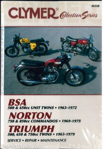 Clymer Vintage British Motorcycle – BSA, Norton, Triumph Repair Manual_001