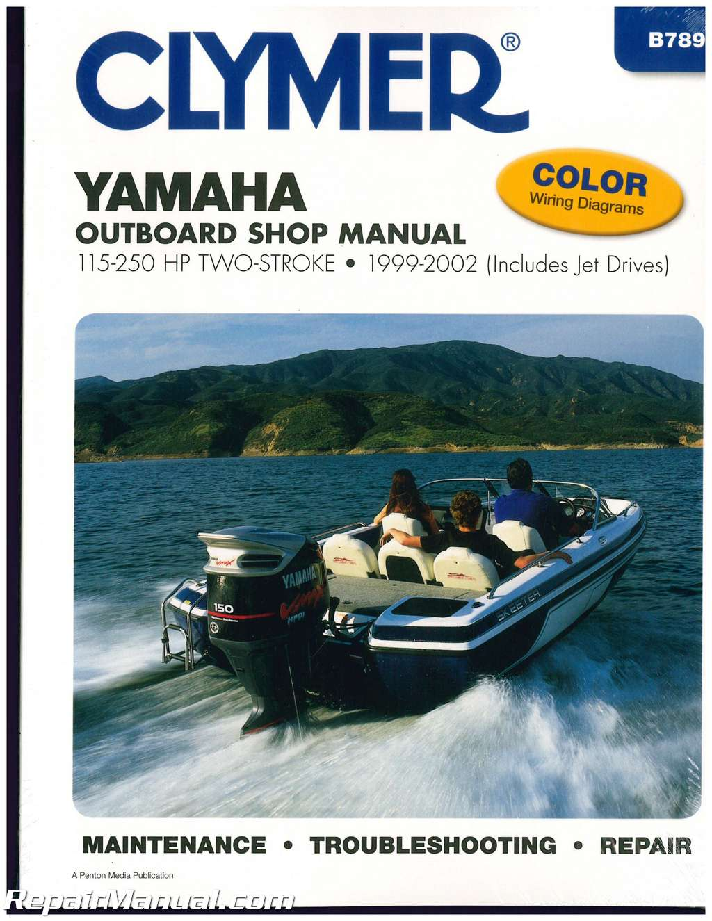 Clymer Yamaha 115 250 Hp Two Stroke Outboards 1999 2002 Boat Repair 90hp 2 Wiring Diagram Manual