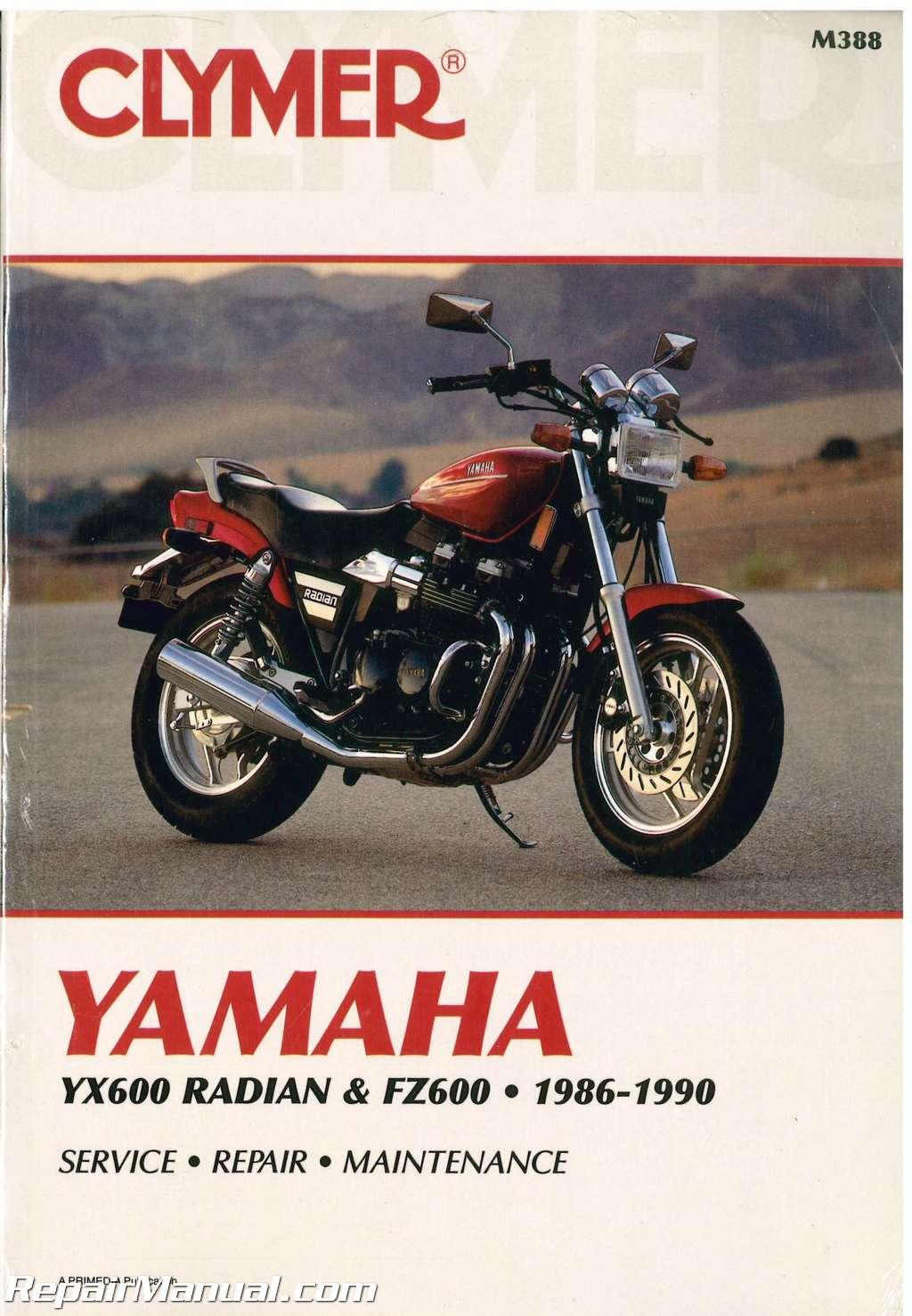 Clymer Yamaha Yx600 Radian Fz600 1986 1990 Motorcycle