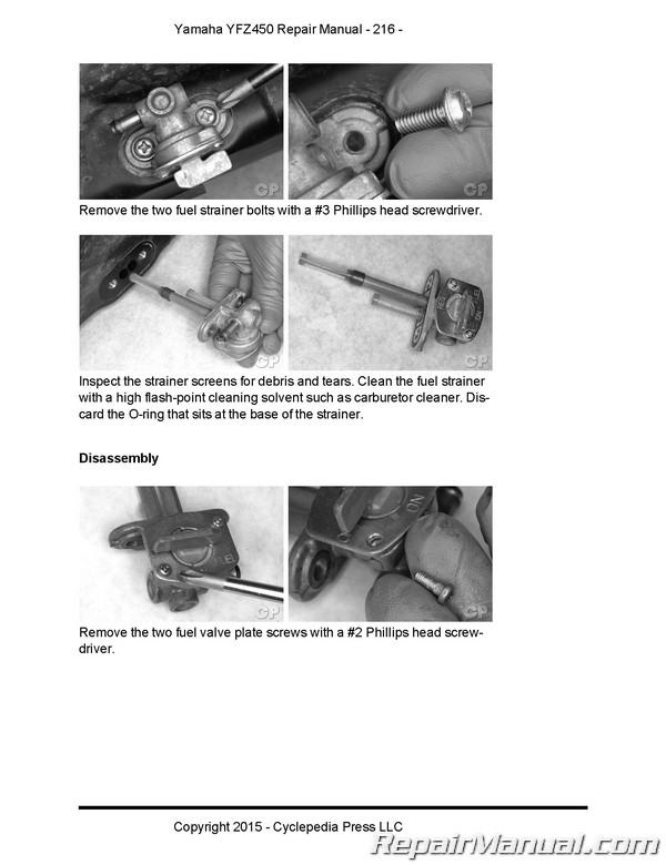 Cyclepedia 2004-2009 Yamaha YFZ450 ATV Printed Service Manual