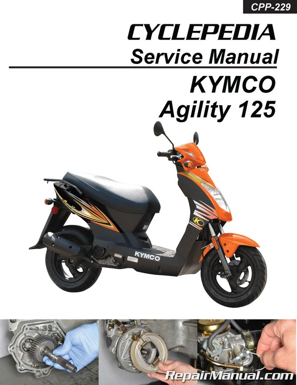 cyclepedia kymco agility 125 scooter printed service manual  repair manuals online