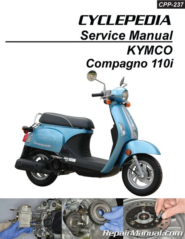 Cyclepedia Kymco Compagno 110i Scooter Printed Service Manual