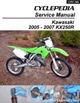 Cyclepedia Kawasaki KX250R Printed Motorcycle Service Manual 2005 – 2007