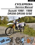 Cyclepedia Suzuki DR350 DR250 Print Motorcycle Service Manual 1990-1999_Page_1