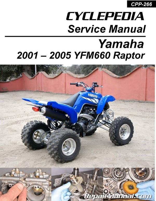 cyclepedia yamaha yfm 660 raptor atv printed service manual rh repairmanual com 2001 Raptor 660R 2001 Raptor 660 HP