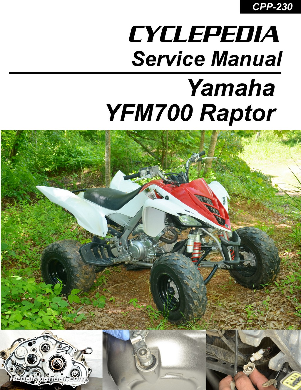 Cyclepedia-Yamaha-YFM-700-Raptor-ATV-Printed-Service- ...