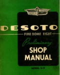 Used 1952 DeSoto Fire Dome Eight Model S-17 Preliminary Shop Manual