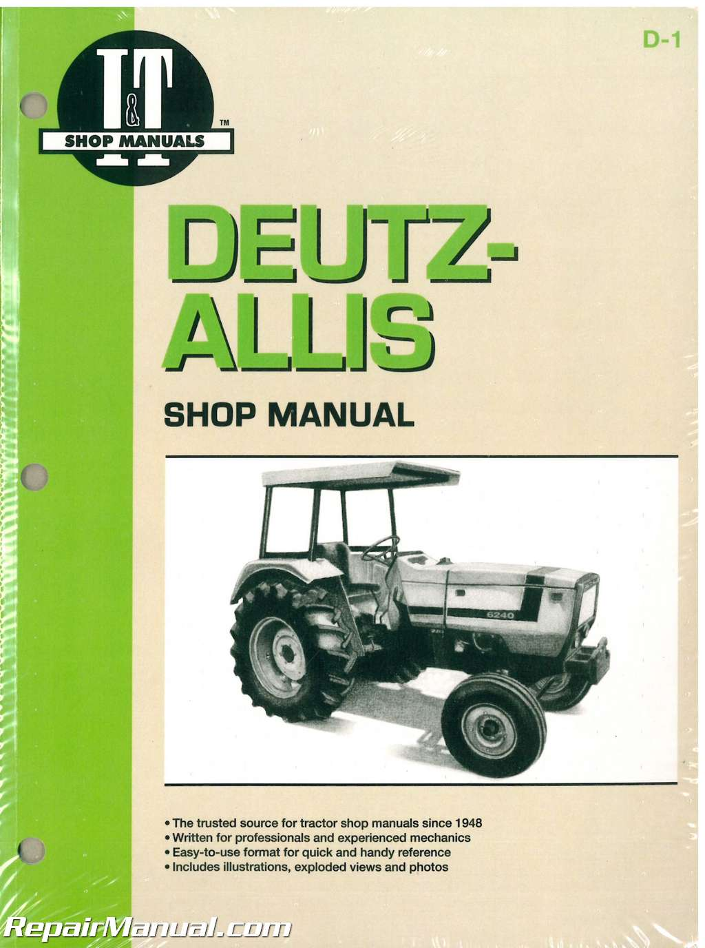 Deutz Allis 6240 6250 6260 6265 And 6275 Farm Tractor Workshop Manual Wiring Diagram For Chalmers Ca