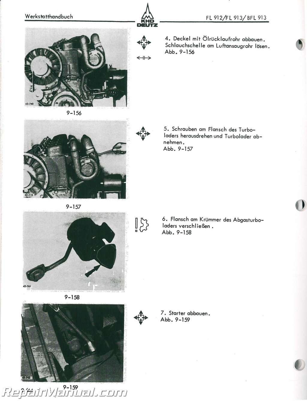 deutz allis model 912 913 engine service manual rh repairmanual com Deutz 912 Parts Deutz 912 Engine