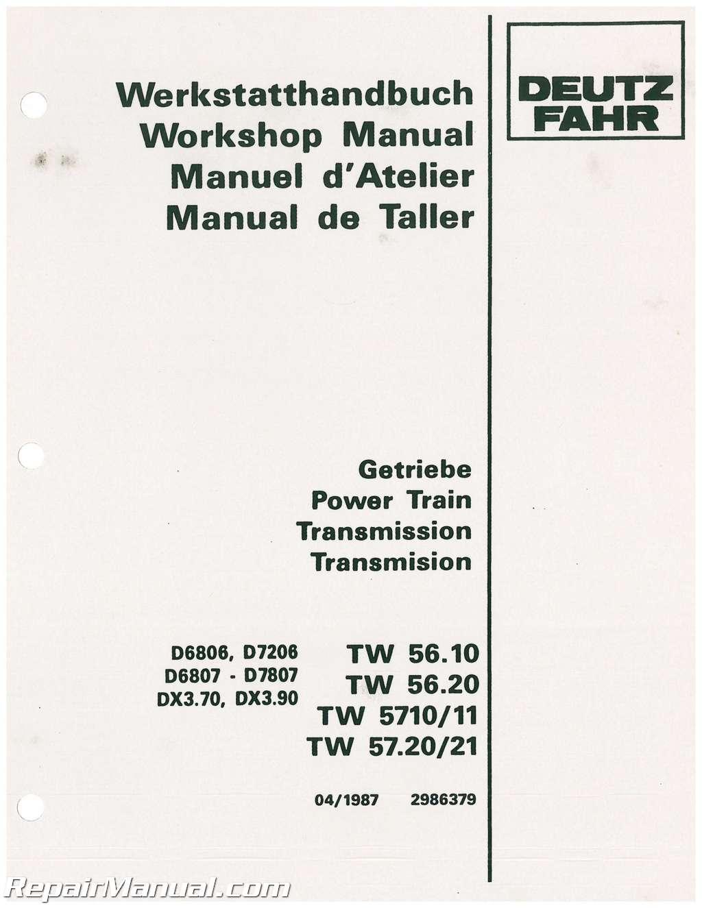 Deutz allis 7120 Service Manual