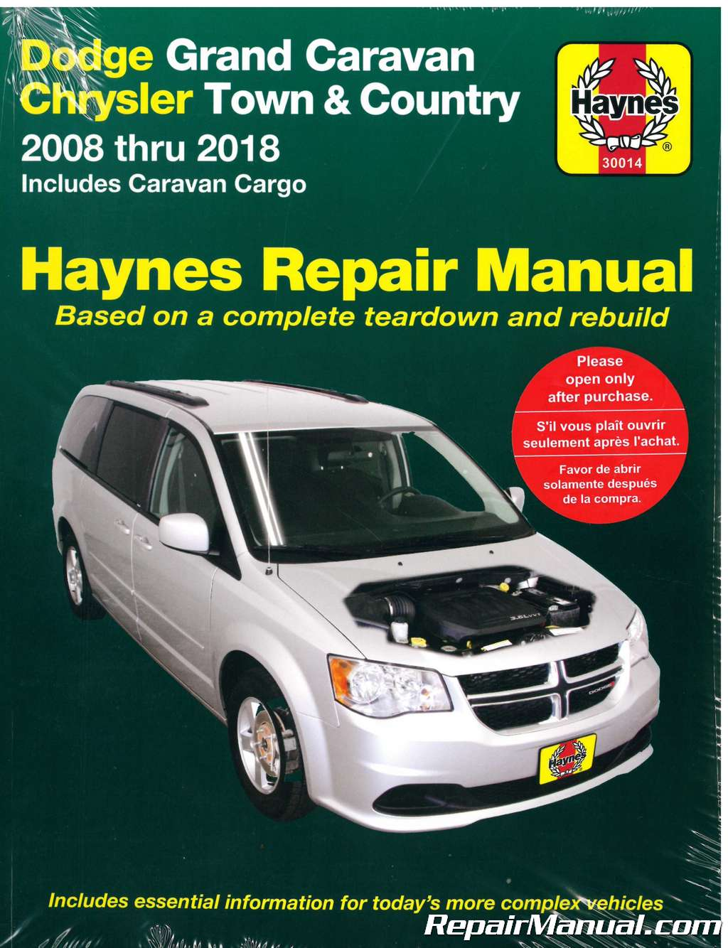 Dodge Grand Caravan Chrysler Town Country Van Haynes Car Repair Manual