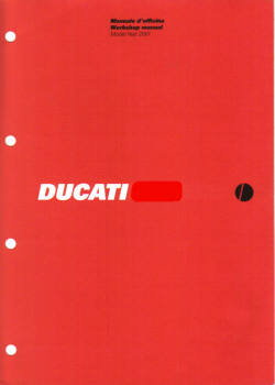 Official 1999 Ducati 750 SS Factory Service Manual