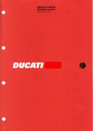 Official 2005 Ducati MONSTER 1000 S Factory Service Manual Supplement