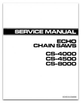 Echo CS4000 CS4500 and CS8000 Chain Saws Service Manual