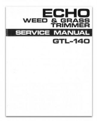 Echo GTL140 Weed and Grass Trimmer Service Manual