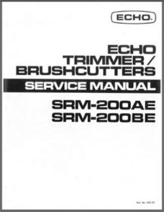 Echo SRM200AE and SRM200BE Trimmer Brushcutters Service Manual