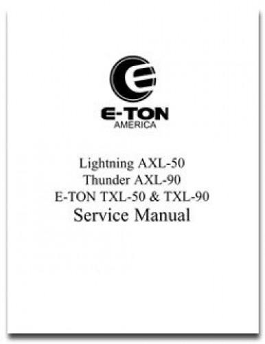 eton axl nxl txl 50 90 atv service manual rh repairmanual com eton viper 90 carburetor manual choke eton viper 90 repair manual