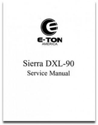 Official Eton Sierra DXL90 Factory Service Manual