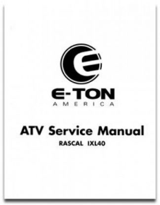 Official Eton Rascal IXL-40 Factory Service Manual