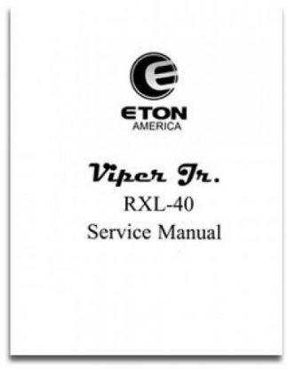 Official Eton Viper RXL40 Junior Factory Service Manual