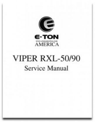 Official Eton Viper RXL50 RXL90 Factory Service Manual